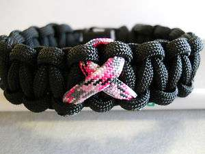 PARACORD BRACELET ~BREAST CANCER AWARENESS~ ((CAMO PINK RIBBON