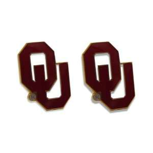 9K VN4K ABN9   Oklahoma Sooners Post Stud Logo Earring Set