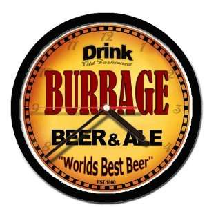 BURBAGE beer and ale cerveza wall clock: Everything Else