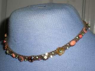 SORRELLI Coral Jade Swarovski Crystal Choker Necklace