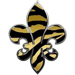 New Orleans Saints Fleur De Lis Decal, Black and Gold, Superbowl, Drew