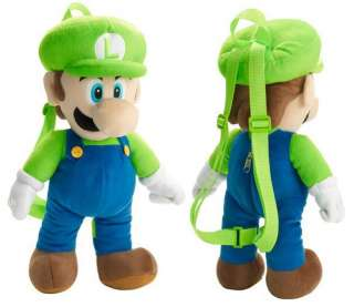 LUIGI PLUSH BACKPACK NINTENDO SUPER MARIO BROS 19
