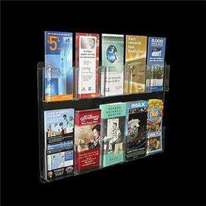 30 pocket Wall mount tri fold brochure holder rack display Multi