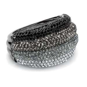 Lux Black Ruthenium Crystal Bangle Bracelet Lux Jewelers