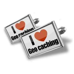 Cufflinks I Love geo caching   Hand Made Cuff Links A