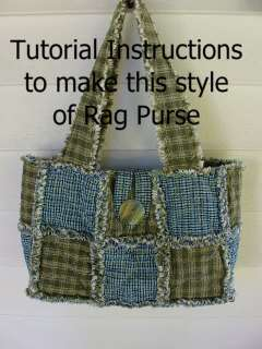 Ashlawnfarms Set of 3 Purses Rag Quilt Pattern Instructions RQQ
