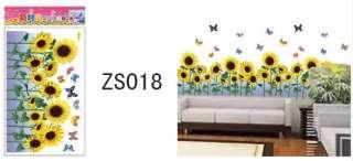 1PC Beauty Butterfly Sunflower DIY Wall Sticker Decal ZS018