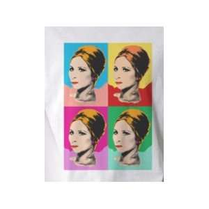 4x Barbra Streisand   Pop Art Graphic T shirt (Mens