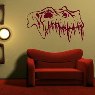 SKULL TREX WALL ART DECAL STICKER giant stencil vinyl mural Di1