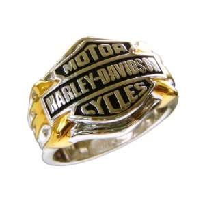 Sterling Silver Harley Davidson Mens Logo Ring: Jewelry