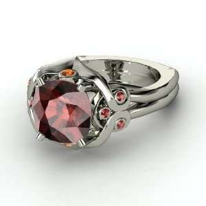 Carmen Ring, Cushion Red Garnet Sterling Silver Ring with