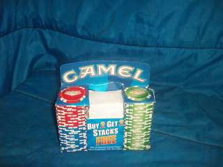 New Camel Cigarettes Las Vegas Casino Poker Chip Stacks