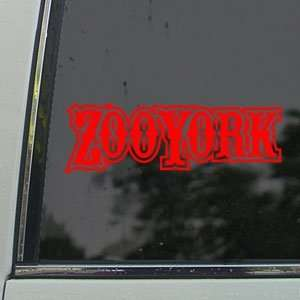 Zoo York Red Decal Surf Skate Snow Board BMX Car Red