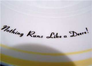 John Deere Yellow Trim Salad Plate