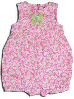 NWT Gymboree Palm Springs 2006 Pink Paisley Romper 3T