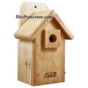Cedar Wood Small Bird Finch Bird House Nesting Box Patio