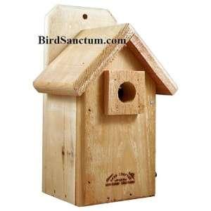 Cedar Wood Small Bird Finch Bird House Nesting Box Patio