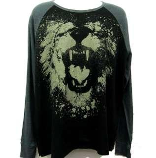 Mens Nobo Shirt Roaring Lion Stencil Paint Splatter 2XL