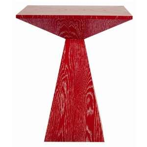 Arteriors Home Nate Red Limed Oak End Table Patio, Lawn