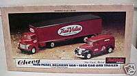 True Value ERTL DELIVERY VAN CAB AND TRAILOR   Die Cast
