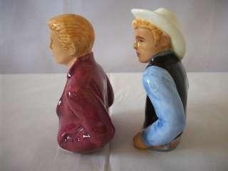 CLAY ART JAMES DEAN COWBOY SALT AND PEPPER MIB #C962