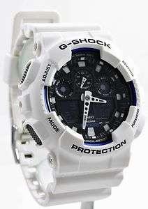 Casio G Shock XL White Black X Large Watch GA100B 7A NEW