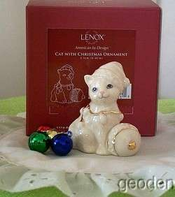 Lenox Christmas Lights Delight Cat Kitten & Decoration