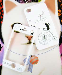 APPLE IPHONE 4G Hard Plastic Case Cover BIKE&CAT +Clean