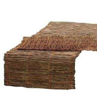 Tag Fresh Herbs Twig 63 Inch by 15 Inch Table Runner, Natural Chestnut