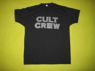 Vtg THE CULT *WORKING CREW* T SHIRT 1989 TOUR concert
