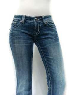 NWT MISS ME Sparkle Crystals Chain Reaction Fleur de Lis Bootcut Jeans