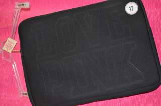 SECRET LOVE PINK BLACK SOFT LAPTOP COVER CASE NWT SOLD OUT