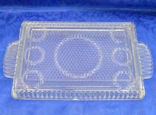 Pattern Glass Dresser Bed/Bath Room Vanity Tray Perfume/Polish Bottles