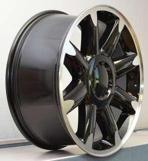 20 Denali Chevy Silverado GMC 1500 Tahoe Wheel Rim Silver Black