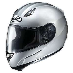 HJC AC 12 Full Face Motorcycle Helmet Silver Extra Large