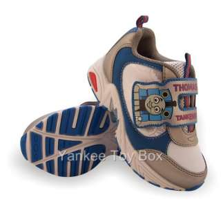 THOMAS TANK ENGINE TODDLER BOYS ATHLETIC SHOES BLUE & SILVER VELCRO