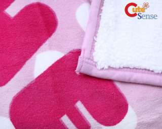 Hello Kitty Plush Throw Micro Sherpa Blanket Pink 58x78