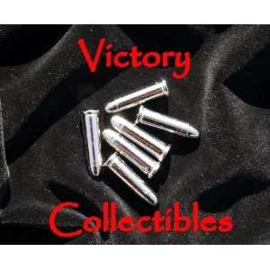 6 Replica Silver Bullets   Colt Denix Gun Revolver Dummy