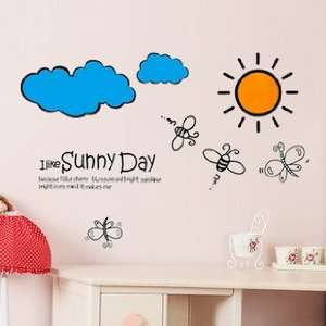 Reusable Sunny Day Wall Sticker