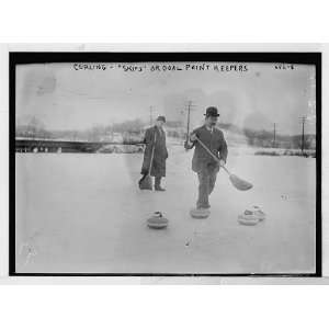 Curlers on field   Skips or goal point keepers Home