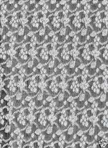 3yx62 Silver Grey White STRETCH Embroidered Fabric b16