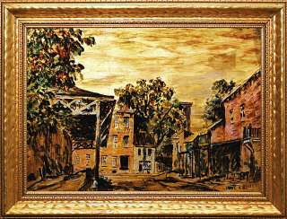 PA IMPRESSIONIST REVERSE PAINTING ON GLASS PAUL BLOSER |