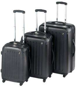 Heys USA 4WD Sidewinder Expandable Luggage Set BLACK