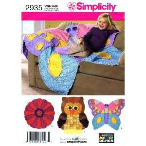 Simplicity 2935 Sewing Pattern Crafts Rag Quilts: Arts