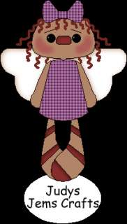 PRIM~ANNIE ANGEL HANG TAGS~GLITTER SUGARED~REINFORCED~VANILLA SCENT
