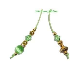 Swarovski Crystal Green Cats Eye Book Thong Arts, Crafts & Sewing