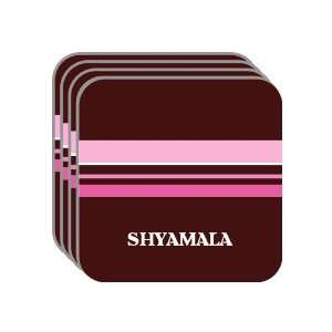 Personal Name Gift   SHYAMALA Set of 4 Mini Mousepad Coasters (pink