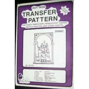 Hot Iron Transfer Pattern #2086C Two Shepards (For Punch