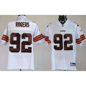 Shaun Rogers #92 Cleveland Browns Replica NFL Jersey White Size 52 (XL