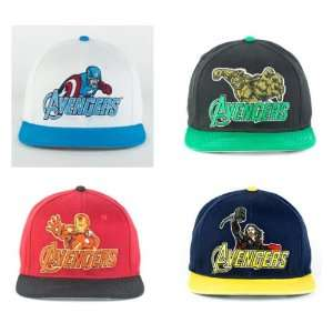 Captain America, Thor, Iron Man and Hulk Snapback Adjustable Cap
